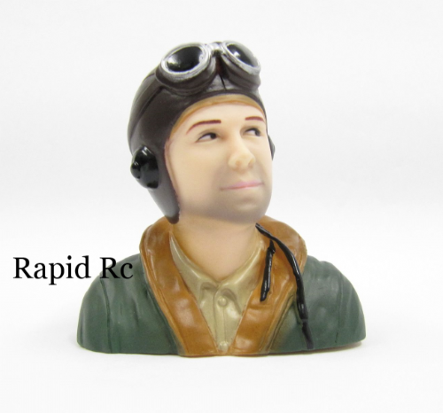 WW2/Classic Era Pilot (H66 x W66 x D35mm) ( Green )